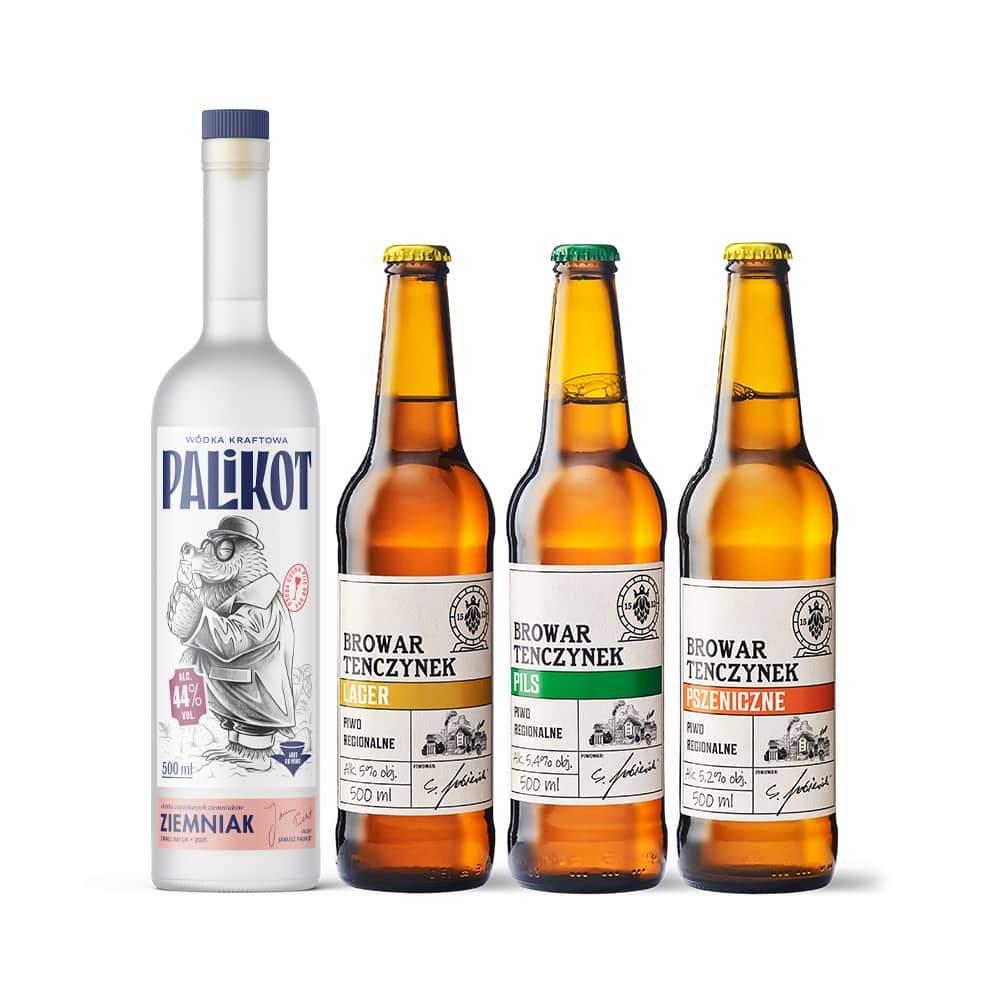 Zestaw Wódka Kraftowa Palikot Ziemniak + 3 piwa